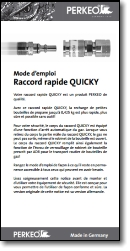 Mode d'emploi Raccord rapide QUICKY